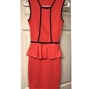 Dresses & Skirts - Orange and black dress. Size XS.